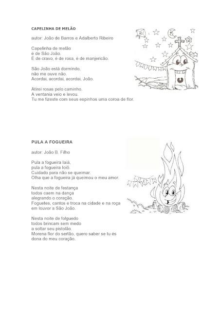 atividades com músicas de festa junina
