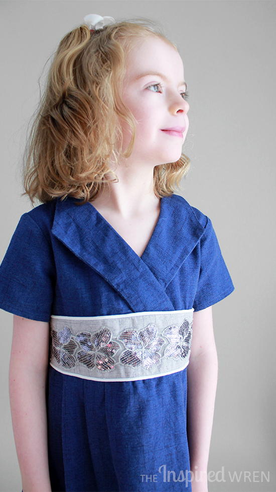Classic. Oliver + S Library Dress in blue textured cotton | The Inspired Wren