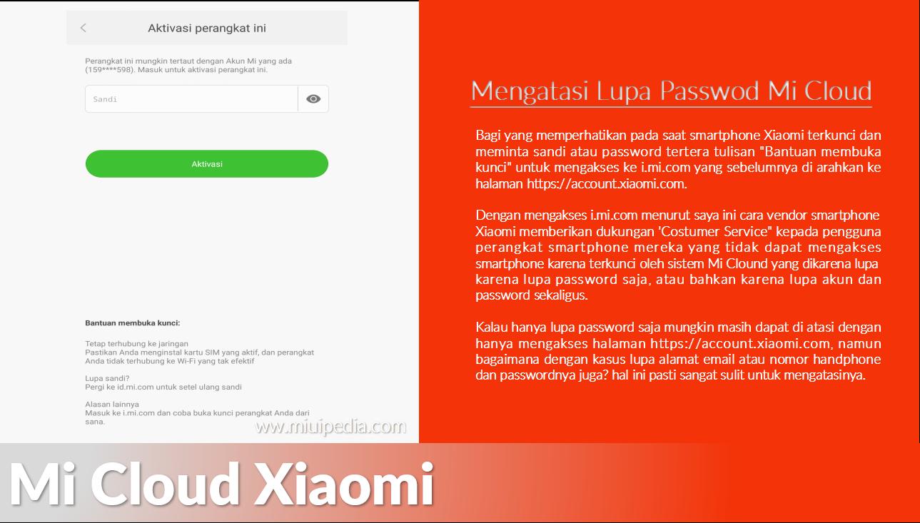 Baru! 2 Cara Terbaik Mengatasi Lupa Password, Email atau Nomor Handphone Akun Mi Cloud Xiaomi Yang Terkunci