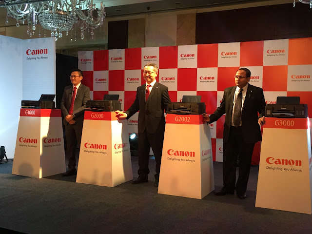 Canon hosts a global launch of four new inkjet PIXMA G series printers in India with prices ranging between Rs. 9595 and Rs. 16795