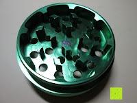 Zähne: DCOU tabak schleifer Alu tobacco grinder tabak spice herb pollen anlage gras mühle 4 schichten aluminium crusher - Ø55mm H48mm grün