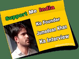 Supportmeindia-ke-Founder-Jumeadean-khan-ka-interview