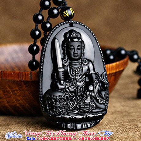 Phật bản mệnh văn thù bồ tát hộ mệnh tuổi mão đá Obsidian giá chỉ 300k miễn ship tại đường yên bái