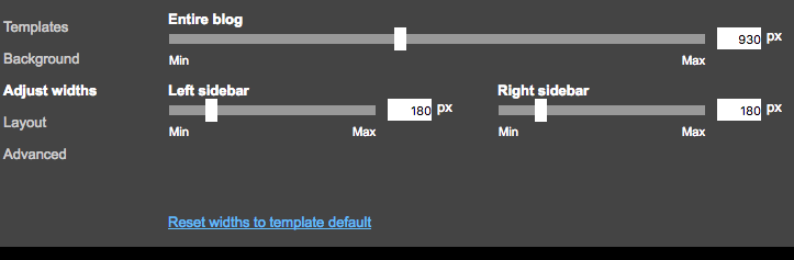 Template Sking Options in Template Designer
