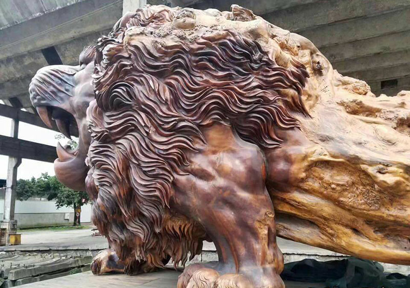 A Giant Lion Sculpture In China That Took Three Years To Complete