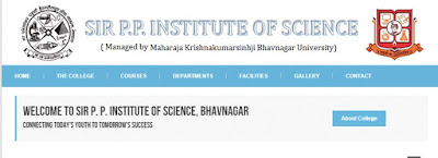 Sir PP Science College Bhavnagar Admission 2018-19 | B.Sc, B.Sc. (IT) Online MK Bhav Uni