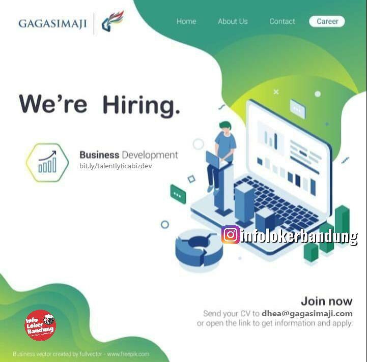 Lowongan Kerja Business Development PT. Gagas Daya Imaji Bandung Mei 2019