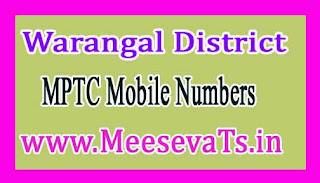 Tadvai Mandal MPTC Mobile Numbers List Warangal District in Telangana State