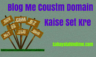 Blog-me-coustm-domain-Ko-kaise-set-kre