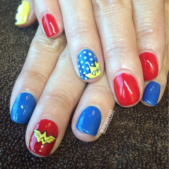 Wonder Woman by Nailed It @ www.blognailedit.co