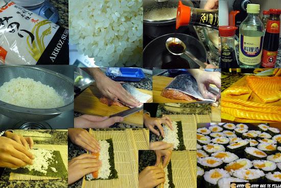 Proceso de elaboración de los makis