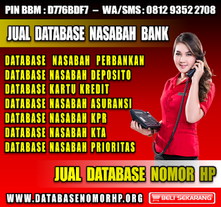 Jual Database Nasabah Bank