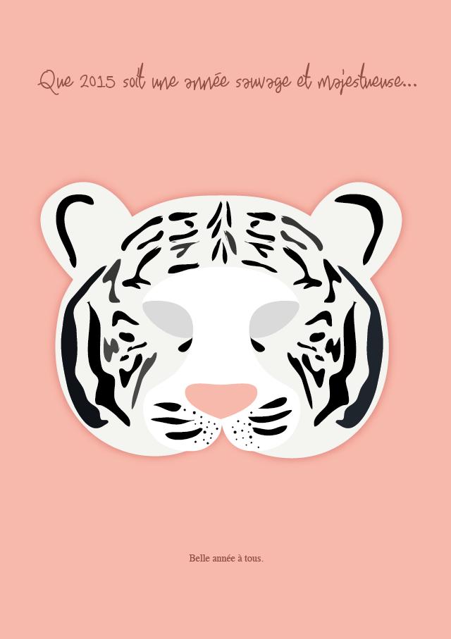 Rose Et Vert Printable Le Masque Du Tigre
