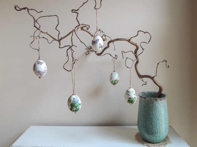 Decorated easter egg tree decorations