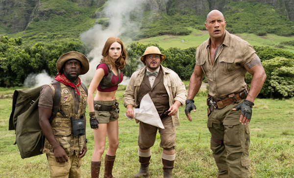Four high-school teenagers transported into a jungle as adult avatars in JUMANJI: WELCOME TO THE JUNGLE (2017)
