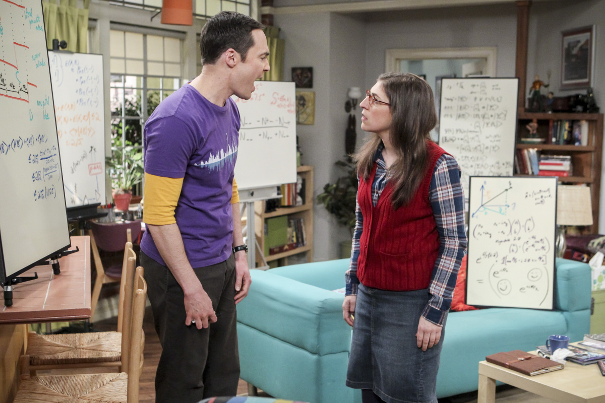 Sheldon y Amy en 'The Big Bang Theory' 10x19 The Collaboration Fluctuation