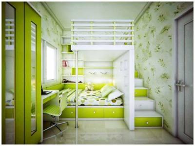 Kombinasi Warna Cat Rumah Hijau Lumut 60 desain kamar tidur warna hijau minimalis modern simpel