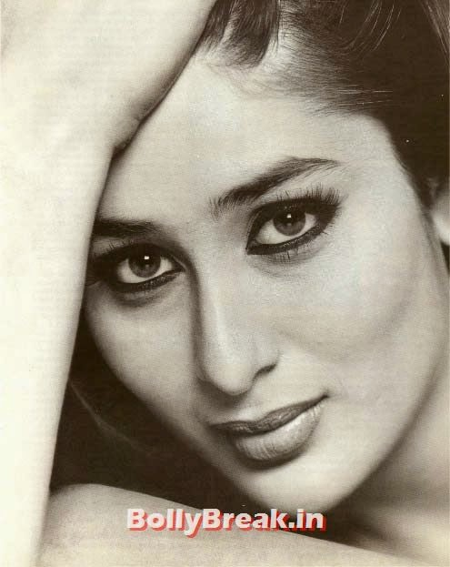 Kareena kapoor black and white photo, Hot Unseen Pics of Kareena Kapoor from Early Days of her Career