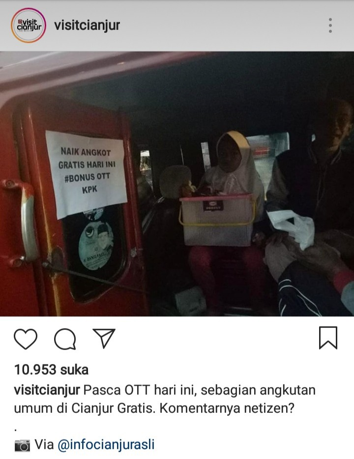 Bukan Duka, Malah Begini Respons Warga Atas OTT KPK Bupati Cianjur