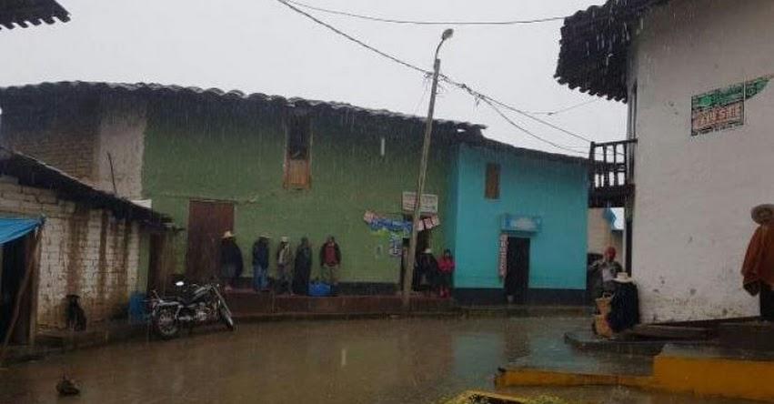 Suspenden clases escolares por lluvias en Cospán - Cajamarca