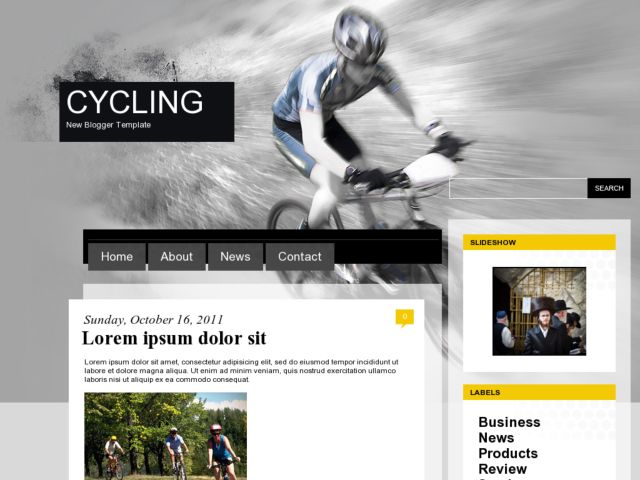 Cycling Blogger Template