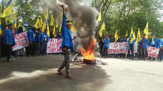 Ini Aksi Mahasiswa Wajo Tolak UUD MD3