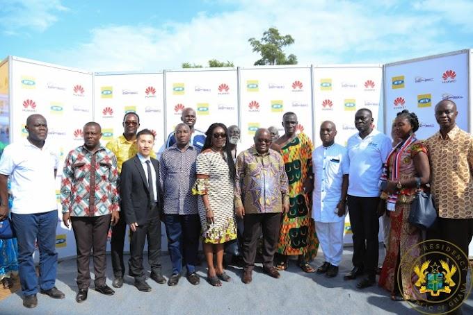 President Akufo-Addo Inaugurates Abenaso Rural Telephony Project