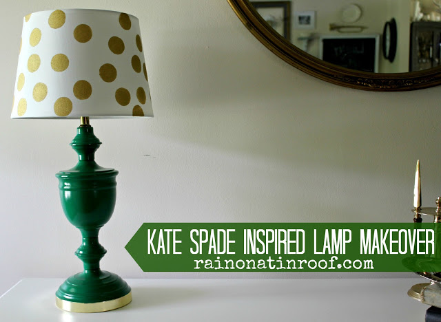 kate+spade+inspired+lamp+makeover+3 A Colorful Home Tour: Rain on a Tin Roof {Color My Home Summer Blog Series} 17