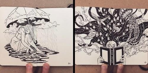 00-Francisco-Del-Carpio-Moleskine-Black-and-White-Ink-Drawings-www-designstack-co