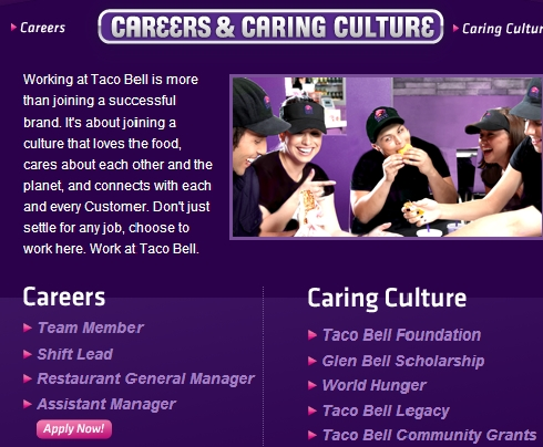 Www Tacobell Com Careers Taco Bell Jobs Search Online
