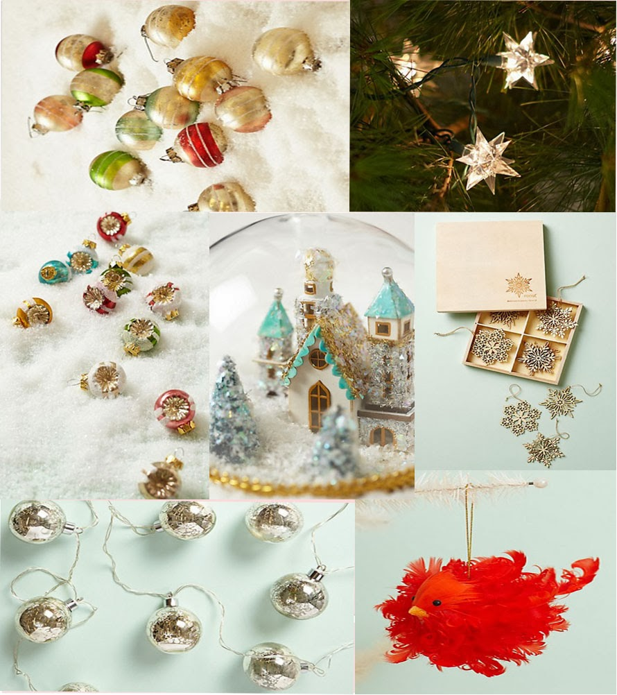 Anthropologie Christmas Ornaments