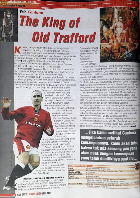 MANCHESTER UNITED LEGENDS ERIC CANTONA THE KING OF OLD TRAFFORD
