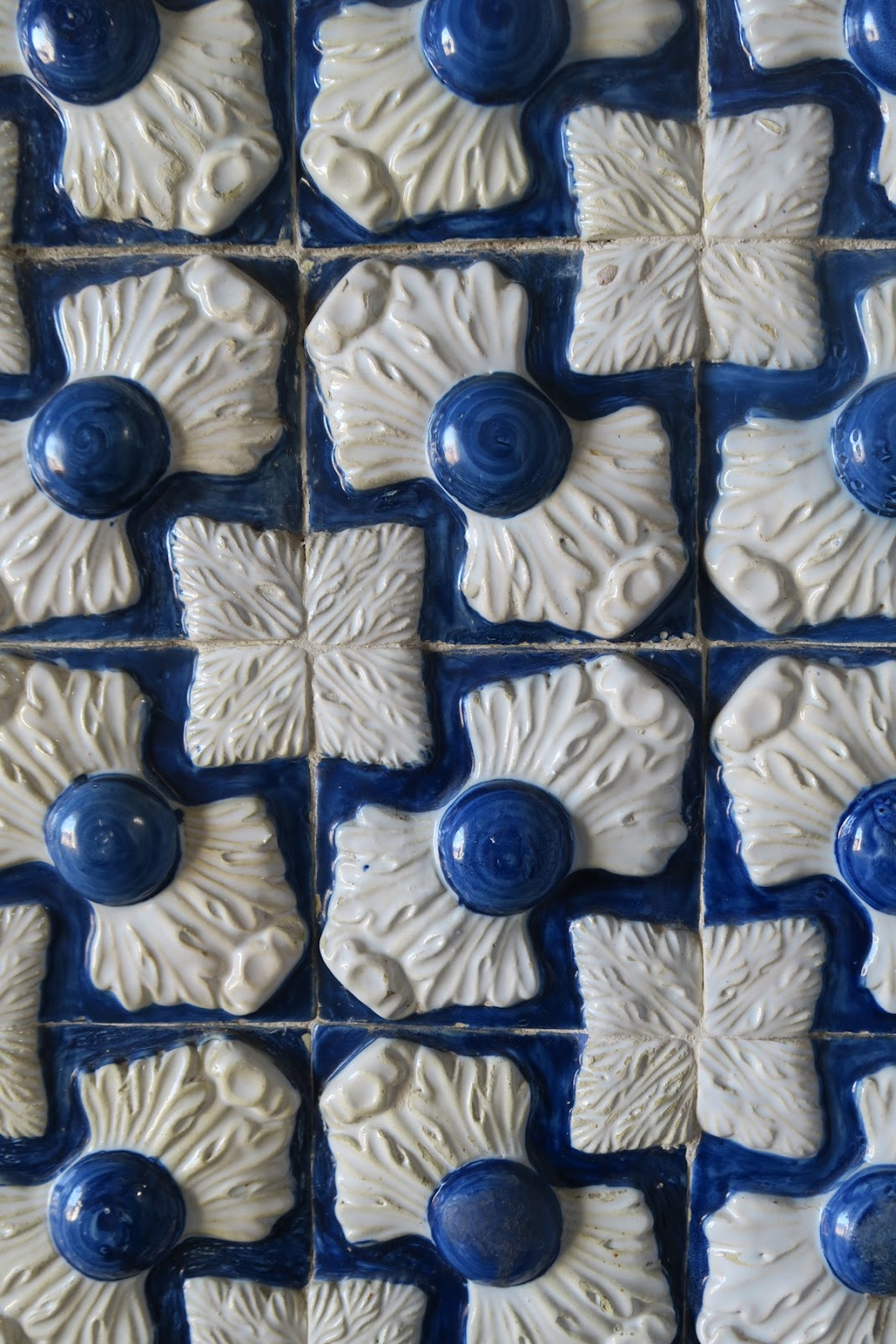 This is a close up of the tiles at the Palacio da Pena.