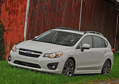2012 Subaru Impreza white hatch