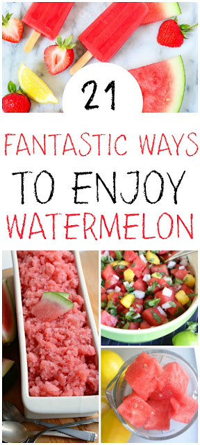 21 FUN ways to eat watermelon this summer! So many fun, creative watermelon recipes your family will love trying this summer with seasonal watermelon