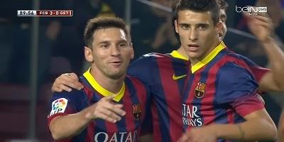 Copa Del Rey : Barcelona 4 vs 0 Getafe 08-01-2014