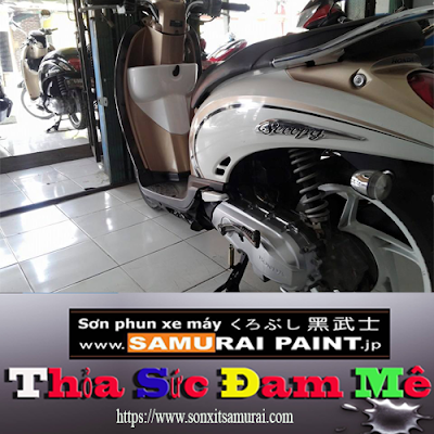 Quy trình sơn vỏ xe máy màu H196