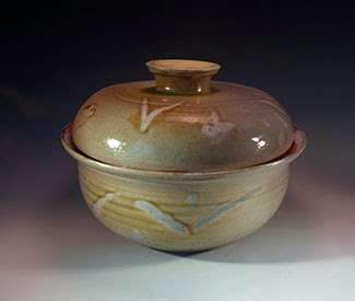 Soda and Salt fired Covered Casserole by Future Relics Pottery