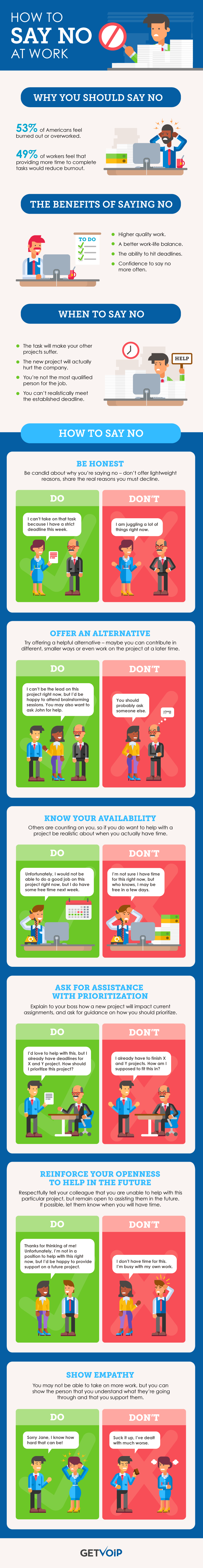 How To Respectfully Say No To Your Colleagues - #Infographic