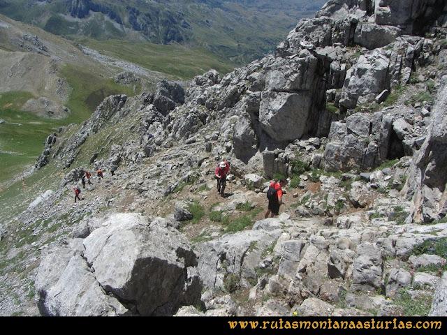 Ruta Tuiza de Arriba-Peña Ubiña: Ascensión cara sureste