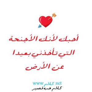 كلام حب قصير , شعر حب وغزل قصير للحبيب مكتوب علي صور