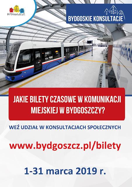 Bydgoskie Konsultacje ws. biletów czasowych komunikacji miejskiej.