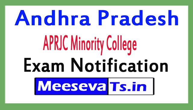 APRJC Minority College Exam Notification 2018