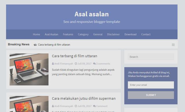 Asal Asalan Responsive Blogger Templates