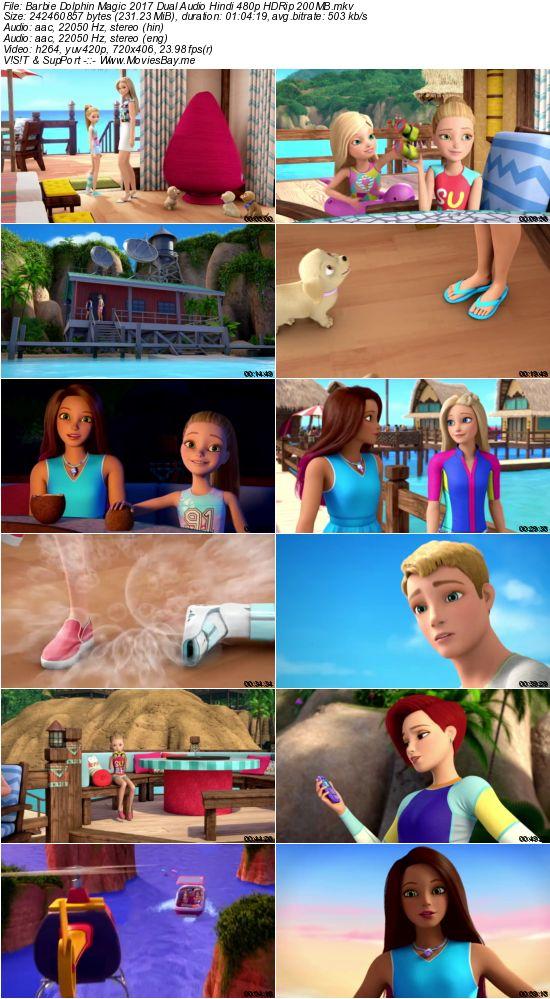 Barbie Dolphin Magic 2017 Dual Audio Hindi 480p HDRip 200MB worldfree4u