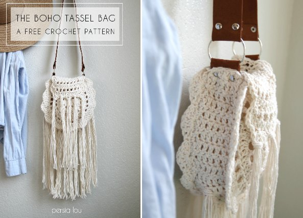 bolso crochet, ganchillo, bolso boho, patrones