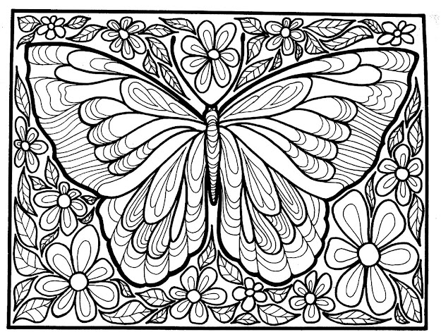 Adult Difficult Big Butterfly Coloring Pages Printable And Coloring Book To  Print For Free Find More Coloring Pages Online For Kids And Adults Of Adult