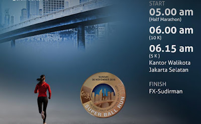 SuperBall Run 2016 Jakarta fx sudirman lomba lari flyover pakai jersey bola