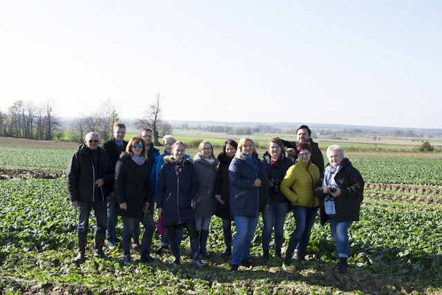 Z wizyta gospodarska na polu i w fabryce Poltino