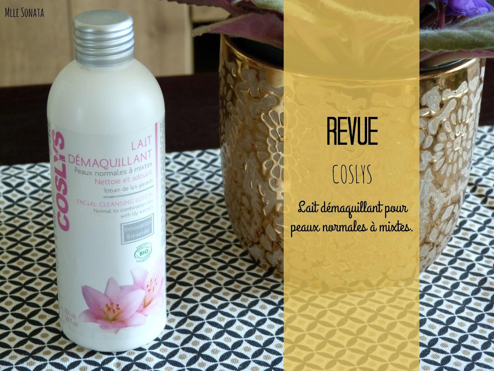 Revue du lait démaquillant pour les peaux normales à mixtes de la marque Coslys